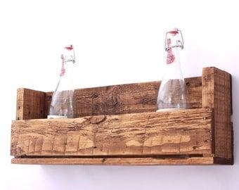 rustic pallet shelf storage