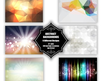 INSTANT DOWNLOAD - Collection of digital abstract backgrounds with 6 different designs