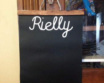 Hanging Chalk Cloth Chalk Board Notes To Do Custom