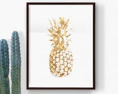 Printable Pineapple Print, Top Selling Items, Most Popular, Botanical Art, Top Sellers, Nursery Art, Summer Art, Digital Download Print
