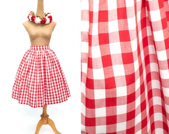 "Lola Skirt ""Sunday Picnic"" Red Checkered Gingham Print"