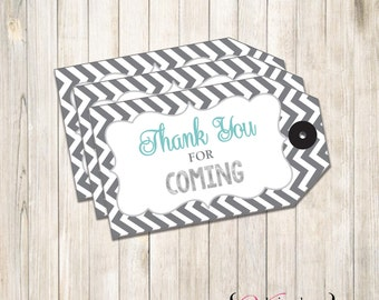 Chevron Gift Tags, Tags, Party Tags