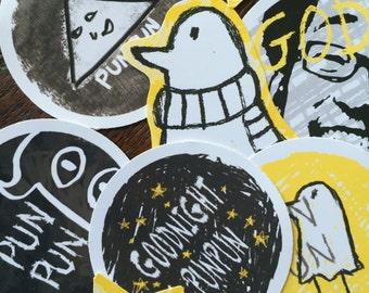 Good Night PunPun Manga Sticker Set