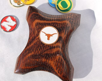 Texas Wallet Money Clip, Longhorns wallet, Texas Money clip, Longhorns money clip, cool money clip, wood wallet