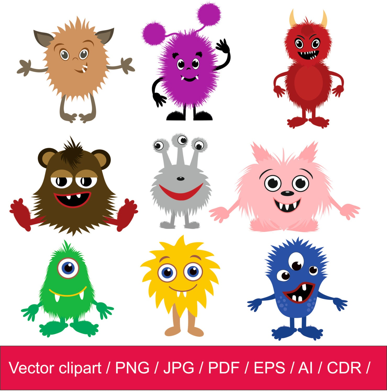 Little Monsters Clipart / Monsters Clip Art / Monsters ...