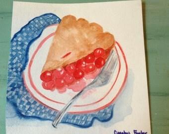Cherry Pie with Napkin