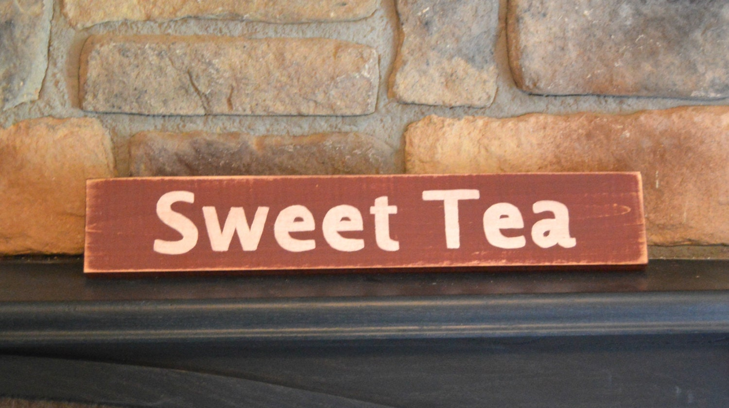 Wall Decor Signs With Sayings : Rustic wood sweet tea sign wooden wall decor sayings