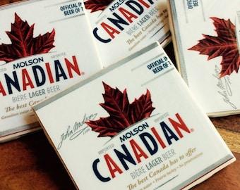 Molson Canadian Beer Coasters