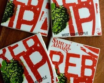 Samuel Adams Rebel IPA Beer Coasters