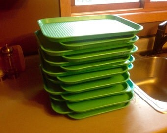 Cafeteria Luncheon Cafe Daycare NSF Turquoise Trays Made in the USA