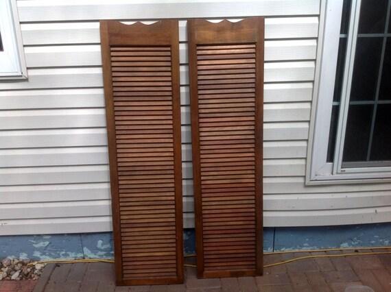 Large wooden shutter cafe door saloon swinging doors