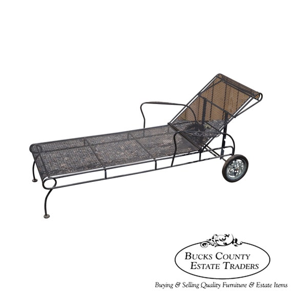 Vintage expanded metal iron patio chaise by bucksestatetraders - Chaise metal couleur ...