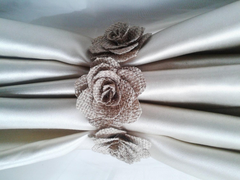 Curtain tie back hooks placement - Curtain Tie Back Hook Ideas Curtain Tie Back 2pcs Burlap Flower Curtain Tie Backs Shabby