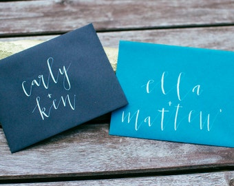 Modern Calligraphy Envelope Addressing | Wedding Envelope Addressing | Modern Lettering Inner Envelope | Enclosure Envelope Lettering