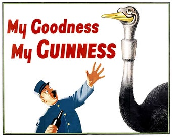 Guinness My Goodness My Guinness Vintage Advertising Enamel Metal TIN SIGN Wall Plaque