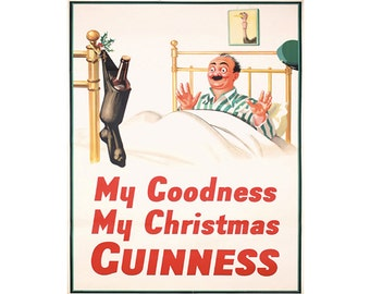 Guinness My Goodness My Christmas Guinness Vintage Advertising Enamel Metal TIN SIGN Wall Plaque
