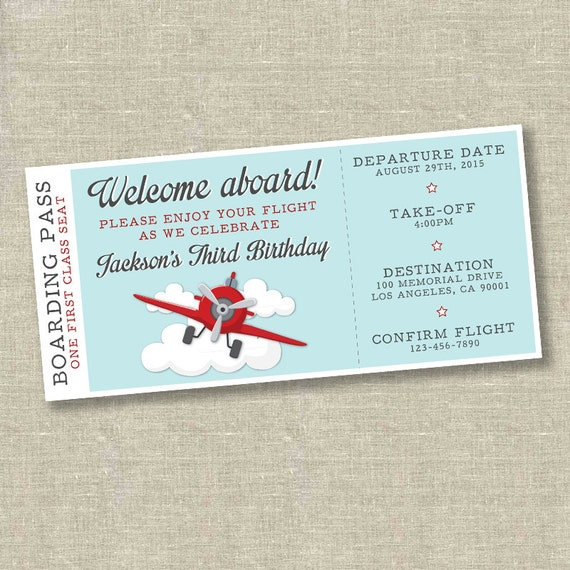 Like This Item?  Airplane Ticket Invitations