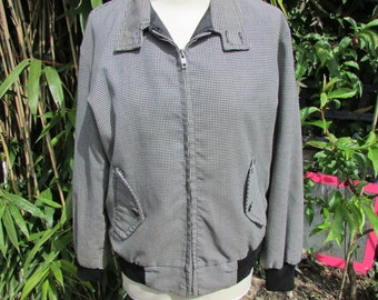 Original Houndstooth Harrington jacket by Ulysses, made in England