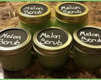 Melon sugar scrub- all natural!