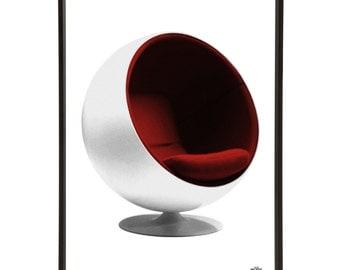 Mid-Century Ball Chair Pop Art Print Modernist Modernist Eero Aarnio 60s