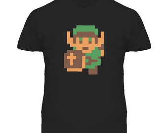 The Legend Of Zelda Link 8 Bit T Shirt