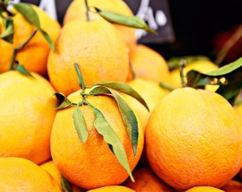 Kitchen Photography - Fine Art Photography - Wall Art Print - Oranges - Market Fruit Print - Food Art - Home Decor - Kitchen Art - Gift