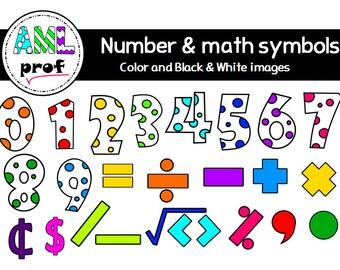 Dot numbers & Math symbols