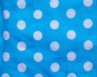 Baby Crib Sheet  or Toddler Bed Sheet - Turquoise with White Dots
