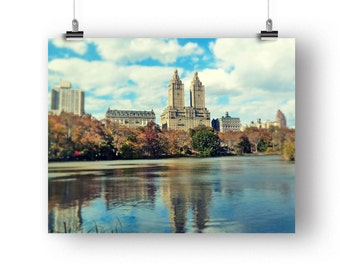 New York City, Photography Print, Central Park, New York Photo, San Remo, Apartment Picture, NYC, Wall Art, Lake Photography, 8 x 10 Print