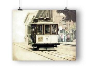 San Francisco Art, Photography Print, Photo,  California Wall Art, Cable Car, Trolley Picture, SF Photography, 8 x 10 Print, Wall Decor