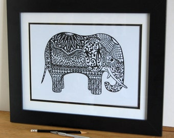 The grand old elephant print