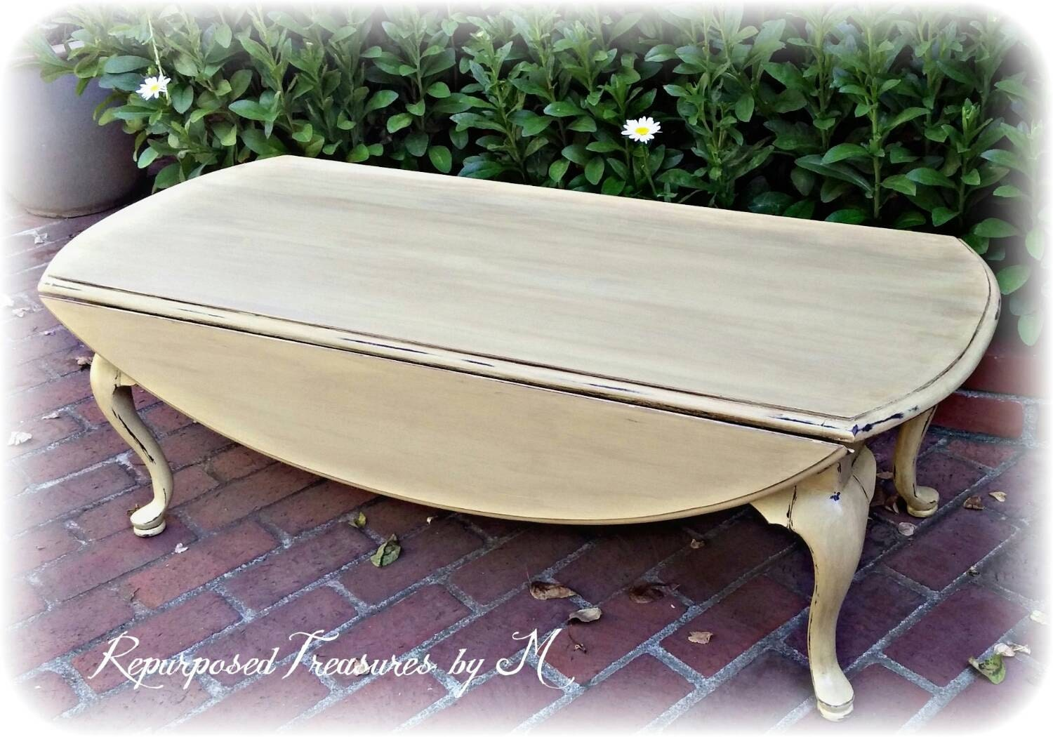 Shabby Chic Coffee Table Queen Anne Coffee Table Distressed