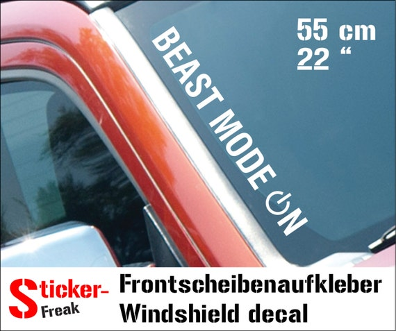beast mode on windshield decal car tuning styling by With kitchen colors with white cabinets with beast mode sticker