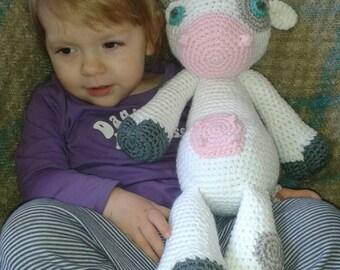 crochet cow plush toy