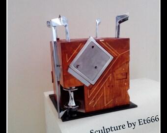 Sculpture collection cube. Cube captions