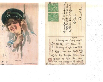 Two Early 1900'S Artist Signed Harrison Fisher Postcards.