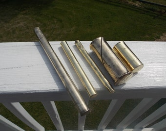 Set of 5 Brass Punches of various sizes