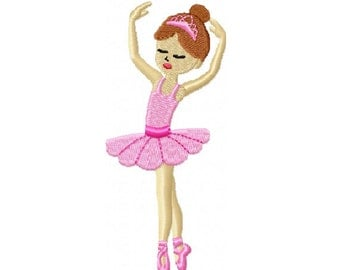 Ballerina Embroidery Design in 3 Sizes - Instant Download