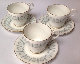 Paragon China Cups & Saucers Vintage x 3 espresso