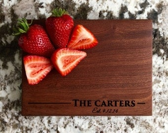 Personalized Cutting Board 6x8 Mahogany - Carter Style