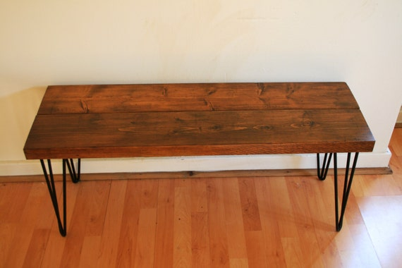 Hand crafted hairpin leg bench build from by for Cheap hairpin legs
