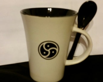 BDSM Symbol Coffee Cup and Spoon