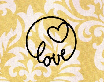 Love Stamp: Wood Mounted Rubber Stamp