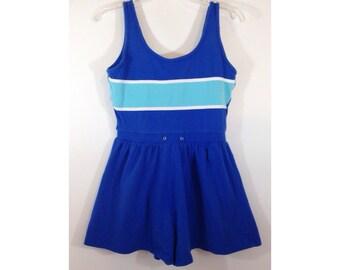 SALE-----Vtg 80s cabana beach swimsuit bathing suit swimwear