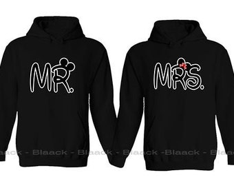 Couple Hoodie - Mr. & Mrs. - 2 Couple Hodies -  Matching Love Hoodie