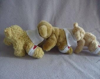 Human Centipede Teddy Bear Replica - BEARIPEDE! Ooak Horror Teddy Bear with COA + Patient Report!!