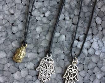 Charm necklace Buddha or Hamsa
