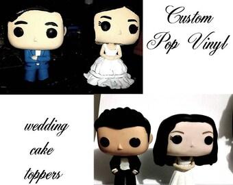 Pop vinyl wedding toppers