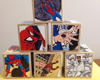 Spiderman storybook blocks