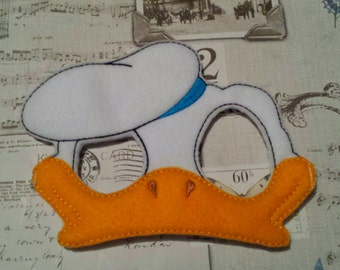duck donald inspired mask ITH Project In the Hoop Embroidery Design Costume, Cosplay, Fancy dress, Masquerade, Photo booth, Prop.